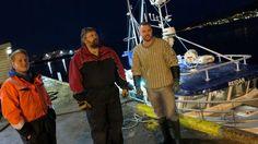 """Mannskapet På """"Reidar"""" overrasket seg selv da de fikk 17 tonn hyse på 60 stamper. Foto: Arne Fenstad."""