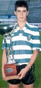 A very youthful looking Luis Figo, product of Sporting's famous Footballing Academy