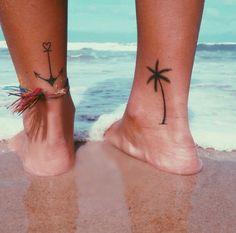 tattoos, palm, anchor, small, cute