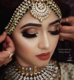 Bridal Makeup For Brown Eyes, Wedding Eye Makeup, Indian Wedding Makeup, Best Bridal Makeup, Wedding Makeup Looks, Indian Wedding Jewelry, Bride Makeup, Bridal Jewelry, Pakistani Jewelry