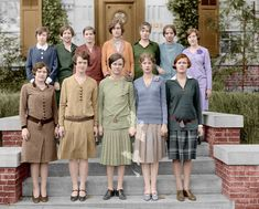 1920s (colorized) - Good Lord, they are awful! Safe, frumpy, non-sexual in any way.
