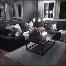 59 smart small apartment living room decor ideas on a budget 49 Living Room Decor Cozy, Living Room Grey, Home Living Room, Interior Design Living Room, Living Room Designs, Living Area, Modern Living Room Curtains, Modern Bedroom, Romantic Living Room
