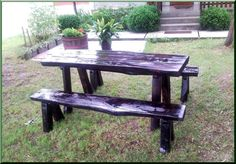 Rönk kerti bútor Outdoor Dining, Dining Table, Outdoor Decor, Garden Furniture, Outdoor Furniture, Picnic Table, Oregon, Pergola, Home Decor