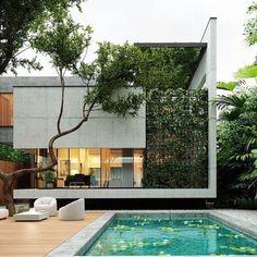 Architecture Résidentielle, Amazing Architecture, Conception Villa, Small Villa, Dream House Exterior, Facade House, Modern House Design, Exterior Design, Instagram