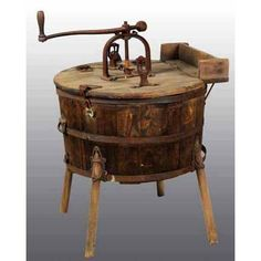 NYM 1 - Stanker Design Hand-Crank Washing Machine oil titter my living Iktter it with the it into like EPA of In of p U. Antique Washing Machine, Wash Tubs, Vintage Appliances, Vintage Laundry, Steampunk, Cleaning Day, Farmhouse Style Decorating, Washing Clothes, Washer And Dryer