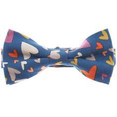Mens Heart Printed Pre-Tied Bow Tie (YB010)