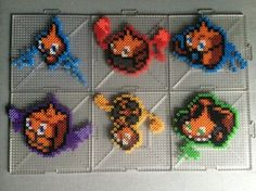 Rotom Form Perlers Perler by TehMorrison on DeviantArt Perler Bead Pokemon Patterns, Hama Beads Pokemon, Hama Beads Patterns, Beading Patterns, Pixel Art, Geek Perler, Art Perle, Peler Beads, Melting Beads