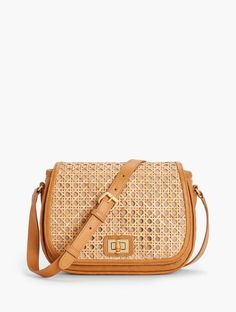 Details Crafted in rattan with lacquer, this versatile and unique crossbody bag with zip and slip pocket is designed for stylish organization. Bamboo turnlock closure keeps items safe and secure. Caning exterior elevates the look. Sisal, Mint Bag, Best Purses, Cow Skin, Summer Bags, Casual Bags, Luxury Handbags, Fashion Bags, Rattan