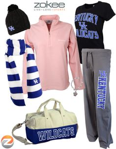OMG cutest University of Kentucky Wildcats stuff around.  New site with everything UK that you could imagine... fleece, hoodies, pants, bags, jewely, belts for women plus collections for men, kids, baby, tailgating, home and kitchen, phone and iPad covers, and so much more... can't wait to see what's on sale next :)  www.teamzokee.com
