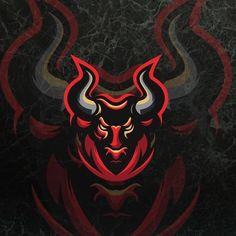 by Contact us if you need an awesome design . Sports Team Logos, Hockey Logos, Hacker Wallpaper, Motorcycle Paint Jobs, Black Spiderman, Taurus Tattoos, Bull Logo, Logo Process, Esports Logo