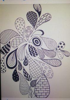 doodle zen easy zentangle patterns simple designs doodles doodling draw drawing uploaded user drawings