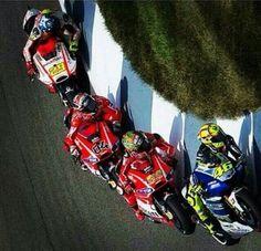 Vale, Nicky Hayden, Andrea Dovioso & Andrea Iannone