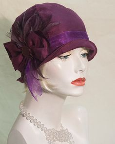 1920s hand made inspired flapper/ cloche hat by aileens4hats