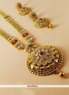 Bridal Necklace Set, Work Party, Stone Work, Gold Style, Mehndi, Girly, Engagement, Jewelry, Schmuck
