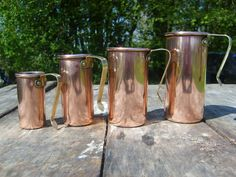 Quality Vintage French Copper and Brass Set of  by NormandyKitchen, €25.00