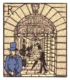 """Tobias Till ~ """"R"""" The Ritz from London A-Z Complete Boxed Set (2012) ~ Linocut, Somerset satin 250 gsm paper, 41.5 x 37.5 cm"""