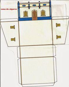 Partilha de atividades e técnicas, bem como, de suporte pedagógico usado na área da educação pré-escolar. Algarve, House Template, Paper Models, Model Homes, Bird Houses, Art For Kids, Diy And Crafts, Projects, Box Houses