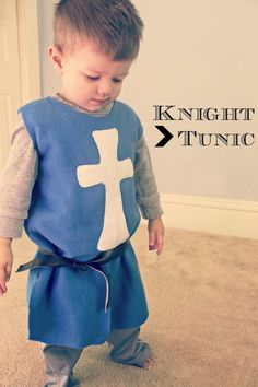 DIY Knight's Tunic | Prudent Baby - Made of fleece. Super easy even for a beginner because there is no need to sew a hem.