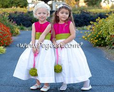 rasberry flower,girldresses | ... by Pegeen.com Flower Girl Dresses on Hot Pink Weddings & Flower G