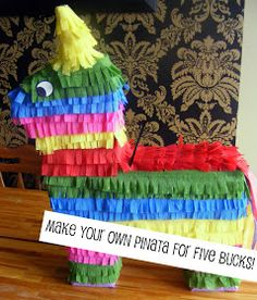 diy pinata - I will be trying this for our Cinco De Mayo party coming up soon. Mexican Pinata, Mexican Party, Make Your Own, Make It Yourself, How To Make, Homemade Pinata, Make Pinata, Festa Party, Party Decoration