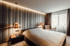 Contemporary apartment designed by Pavel Yanev, situated in Sofia, Bulgaria. Zeitgenössisches Apartment, Apartment Interior Design, Modern Interior Design, Eclectic Design, Contemporary Apartment, Contemporary Decor, Modern Bedroom, Bedroom Decor, Bedroom Ideas