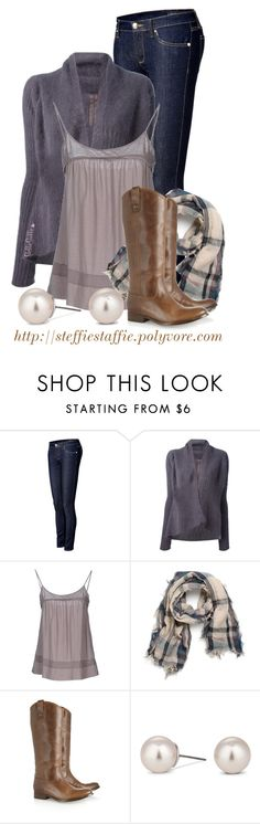 """""""Lavender, Plaid & Frye Boots"""" by steffiestaffie ❤ liked on Polyvore featuring Juicy Couture, Rick Owens, James Perse, With Love From CA, Frye and Jon Richard"""