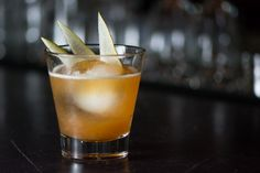 Golden Lorraine: D'ussé Cognac, Benedictine, Clover Honey, Lemon, and Anjou Pear from The Church Key- Los Angeles, CA #cocktail #spirits #cognac