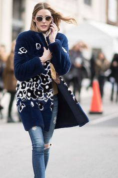 6 Fall Floral Outfits We're Stealing From Olivia Palermo via @WhoWhatWearUK