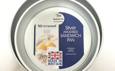 Silver Anodised Sandwich Pan 2 Deep Professional Quality Bakeware, Easy Clean, Easy Release, Never Rust available in and Cake Decorating Equipment, Sandwiches, Deep, How To Make, Paninis