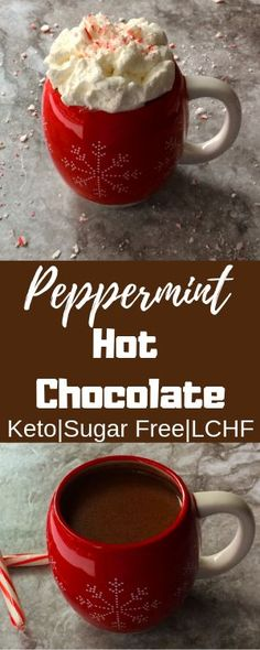 Keto Peppermint Hot Chocolate I love chocolate and peppermint it is just such a great pairing. Who doesnt love hot chocolate anyway? Its chocolate and its hot. I mean YUM! Keto Peppermint Hot Chocolate I Low Carb Drinks, Low Carb Desserts, Low Carb Recipes, Healthy Recipes, Dessert Recipes, Protein Recipes, Dessert Ideas, Drink Recipes, Soup Recipes