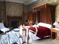 His Lordship's Bedroom - Lanhydrock House - Bodmin - Cornwall - England
