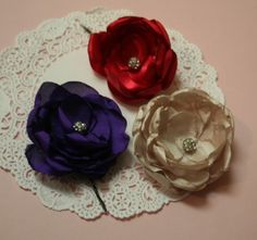 Create Romantic Floral Brooches and Hair Pins Part 1