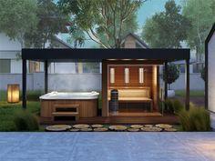 hu garden sauna – Keep up with the times. Hot Tub Garden, Hot Tub Backyard, Backyard Patio, Sauna House, Sauna Room, Outdoor Sauna, Jacuzzi Outdoor, Outdoor Rooms, Outdoor Living