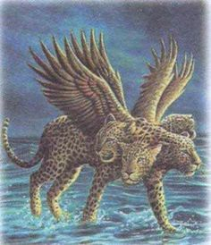 """""""After that, I looked, and there before me was another beast, one that looked like a leopard. And on its back it had four wings like those of a bird. This beast had four heads, and it was given authority to rule.""""  Daniel 7:6"""