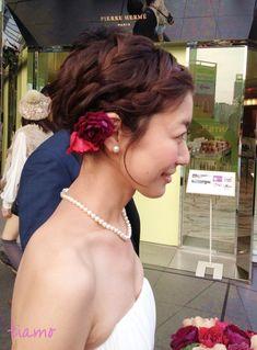 キレイ~可愛い☆ショートでチェンジ大成功の花嫁さま の画像|大人可愛いブライダルヘアメイク『tiamo』の結婚カタログ