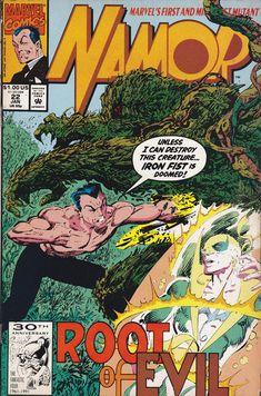 Namor Comic Issue 22 The Sub-Mariner Modern Age First Print 1992 Byrne Wiacek Comic Art Fans, Comic Books Art, Book Cover Art, Comic Book Covers, Book Art, Old Comics, Marvel Comics, Tales To Astonish, Sub Mariner