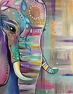 What is Your Painting Style? How do you find your own painting style? What is your painting style? Elephant Love, Elephant Art, Elephant Paintings, Elephant Canvas Painting, Elephant Drawings, Mandala Elephant, Colorful Elephant, Diy Painting, Painting & Drawing