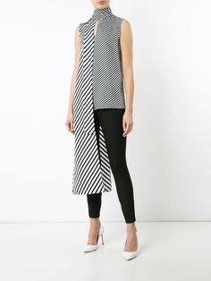 Monse long tie sleeveless blouse