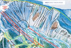 Northern New Mexico's diverse climate makes Taos Ski Valley a perfect destination for year-round recreation. Snowboarding, Skiing, Taos Ski Valley, Trail Maps, New Mexico, Ski Resorts, Basin, Winter, Life