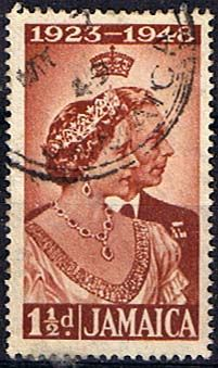 Jamaica 1948 King George VI Royal Silver Wedding SG 143 Fine Used Scott 138 Other Jamaica Stamps