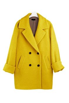 I've always wanted a yellow coat...