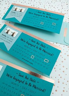 Make your own darling Save the Date invitations using our free printable designs!