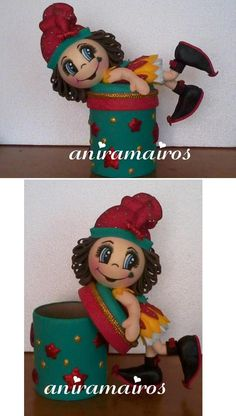 Fofucha Niña navideña (dulcero)