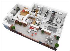 Plano apartamento grande