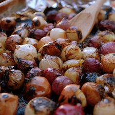 Balsamic roasted pearl onions.....just found frozen bags of pearl onions at TJ's today. :)