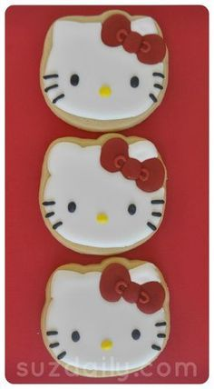 How to make a Hello Kitty Cookie. www.suzdaily.com