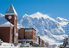 Telluride CO - this is a straight up mountain town with some of the best skiing in Colorado. Don't worry though, you might run into Ralph Lauren or Tom Cruise having a drink #JetsetterCurator