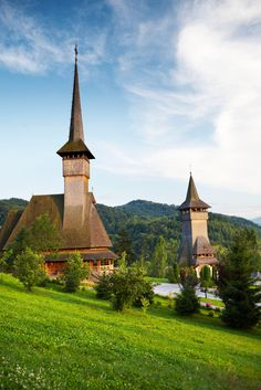 The churches of Bârsana monastery in the Iza valley of Maramureş, Romania - though they look old, they were all constructed in the last 25 years without the use of nails // photo by Matt Munro Eastern Europe, Lonely Planet, Far Away, Rocky Mountains, Romania, The Good Place, Planets, Places To Visit, Adventure