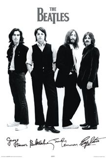 The Beatles SIGNATURE PORTRAIT (1969) Classic Black-and-White Poster