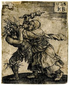 Recto The witch attacking the devil; the devil horned and with leaves and twigs on his heads and knees; chased to left by the female figure holding a spindle (? top right corner made up. Engraving © The Trustees of the British Museum Pow Wow, Cthulhu, Magick, Witchcraft, Jean Fouquet, Maleficarum, Mystery, Hieronymus Bosch, Demon Hunter